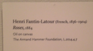This painting is on loan from the Armand Hammer Foundation. It is NOT in the permanent collection.